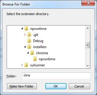 chrome pack select folder